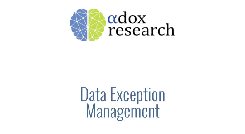 Data Exception Management [Report]